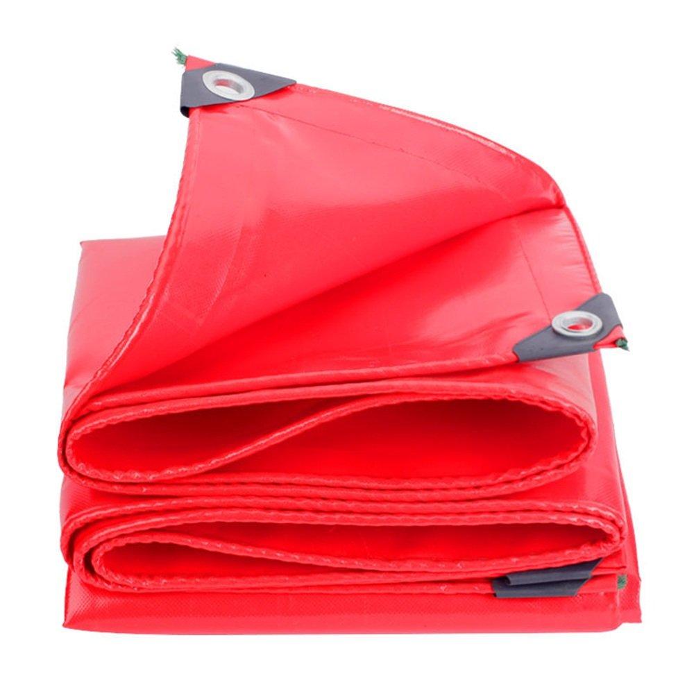 Plane FEIFEI Tarpaulin Rot Verdicken Wasserdichter Sonnenschutz Verschleißfeste Multifunktions schwarzout Tuch (Farbe   Rot, größe   36m)