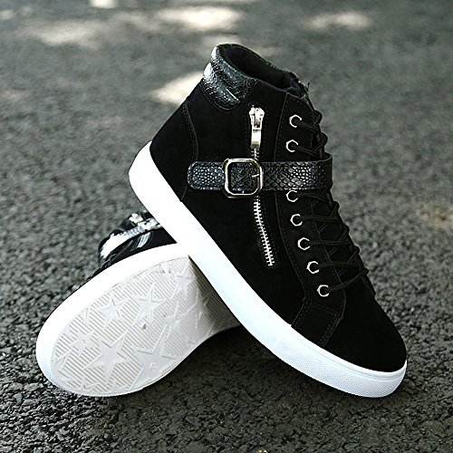 BeltBuckle Top High da Scarpe Scarpe Sneaker up da Black Cricket Uomo Casual Lace amp; Basse Hazw8qx0
