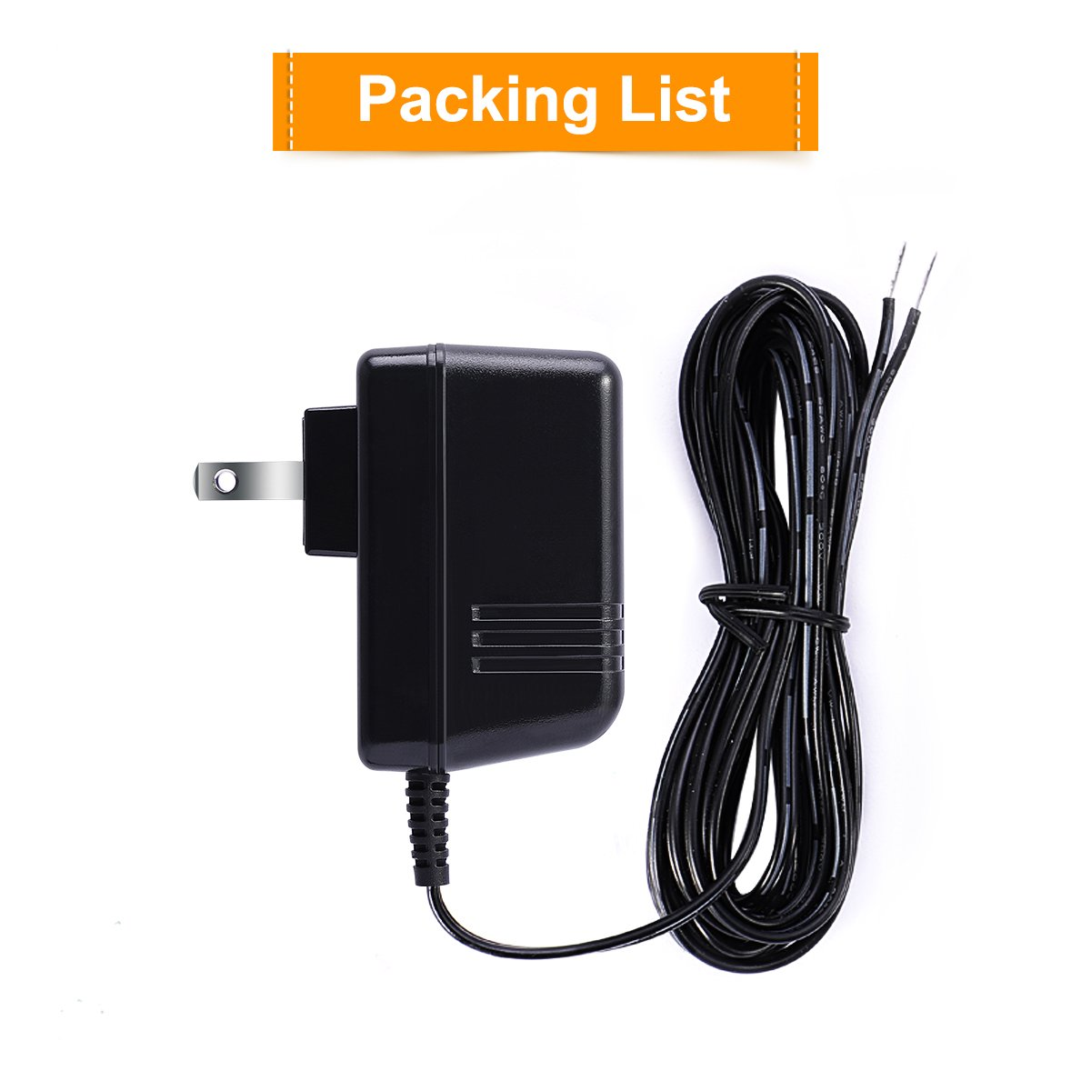 24V Thermostat Transformer,LANMU AC 24V C-Wire Power Supply Adapter on