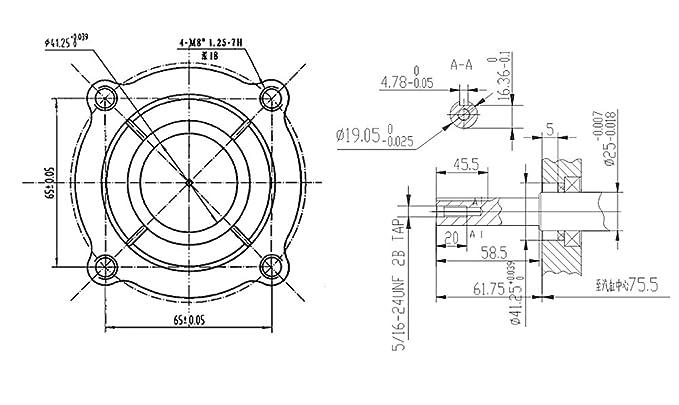 WilTec LIFAN 168 Motor de Gasolina 4,8kW (6,5PS) Motor de 19,05mm ...