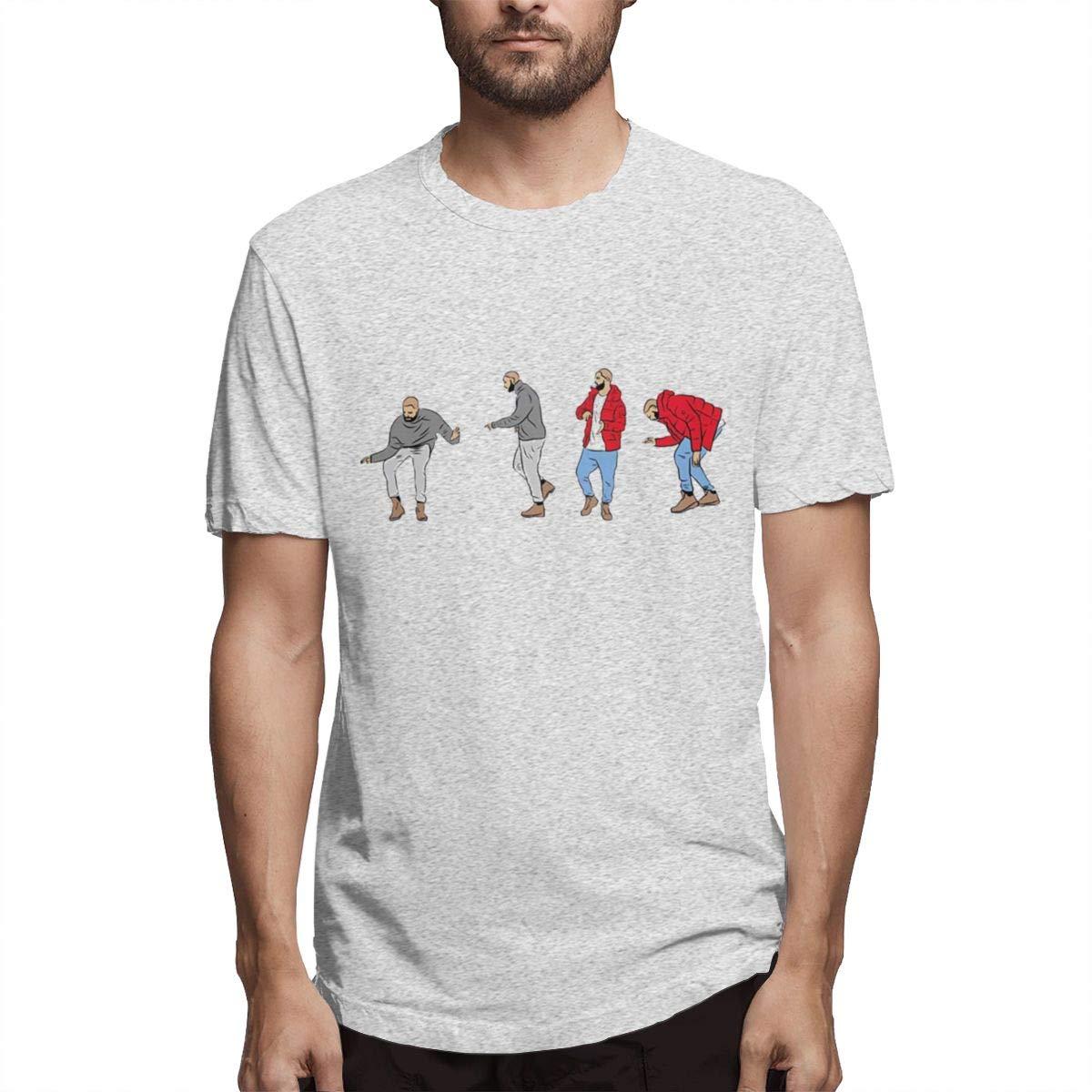 VIIHAHN Man Hotline Bling Drake Views Logo Humor Running Round Neck Short Sleeve Shirts