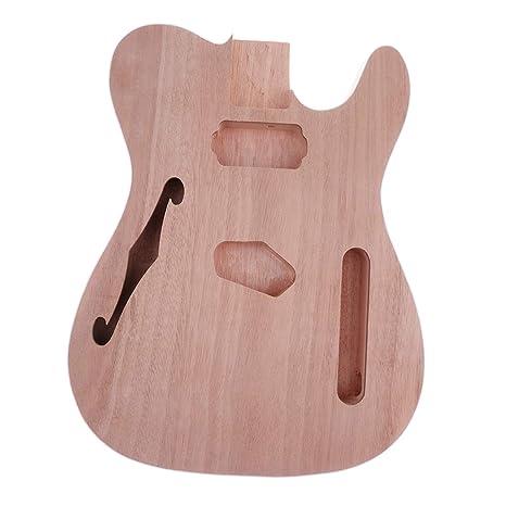 Sharplace Cuerpo de Guitarra Eléctrica Inacabado de Madera Partes De Bricolaje Guitarra de Telecaster