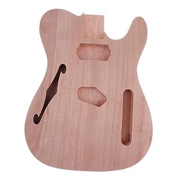 Sharplace Cuerpo de Guitarra Eléctrica Inacabado de Madera Partes De Bricolaje Guitarra de Telecaster: Amazon.es: Instrumentos musicales