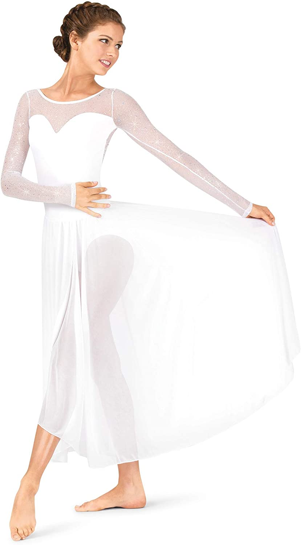 Womens Performance Twinkle Mesh Long Sleeve Dress TW617
