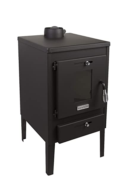 Estufa de leña Log quemador chimenea Mini 8 kW con tapa de acero y solapa: Amazon.es: Bricolaje y herramientas