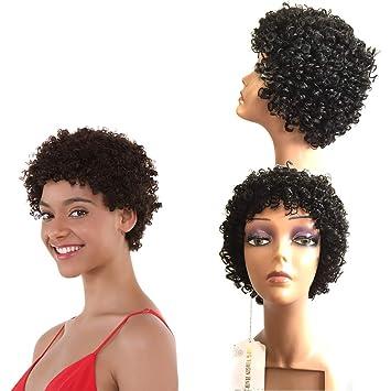 Afro Kinkys Curly Hair Wig Short Pixie Cut Bob Wigs For Black Women Human  Hair African a35cf5809
