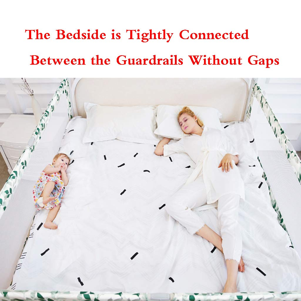 Bed Rail Single Foldable Safety Bedrail with Ventilated Mesh for Toddlers Queen Size Bed Guard for Kids Safe Sleep by SONGTING Guardrail (Image #5)