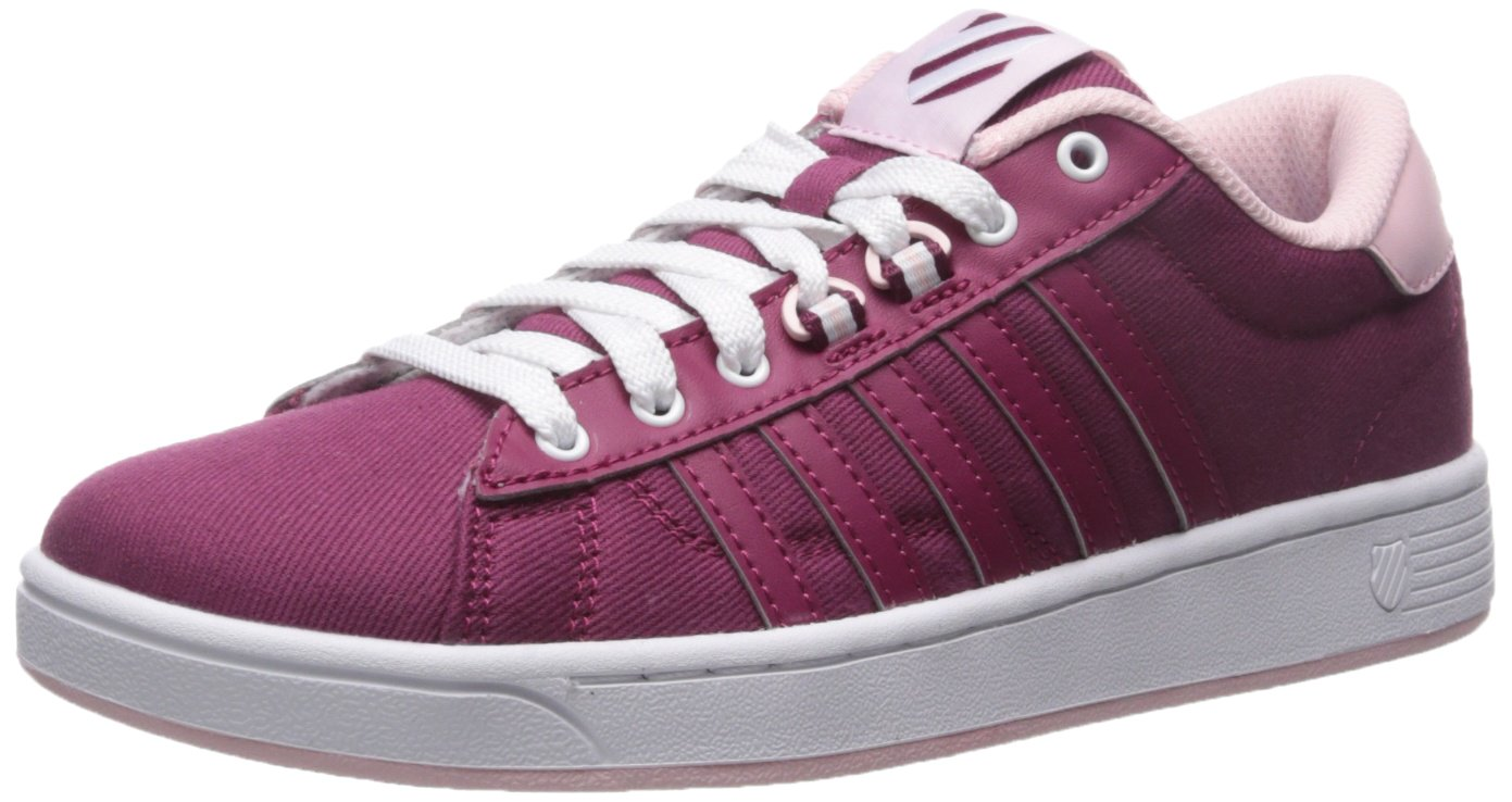 K-Swiss Women's Hoke T CMF Fashion Sneaker B01LX0J9D6 6 M US|Purple Potion/Potpourri/White