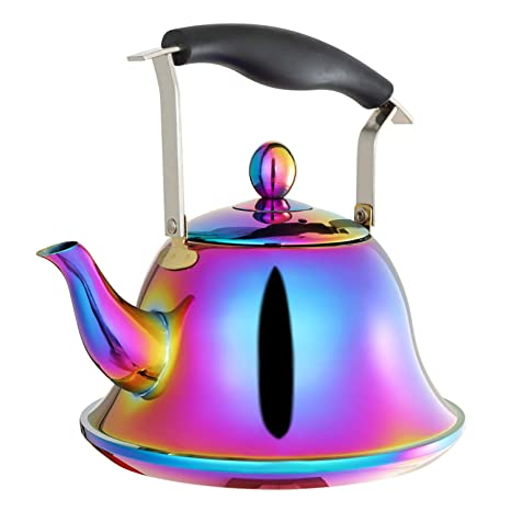 Amazon.com: Tetera de té con infusor de acero inoxidable con ...