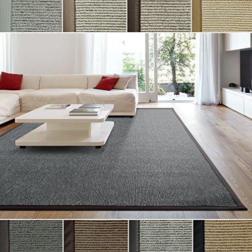 iCustomRug Zara Contemporary Synthetic Sisal Rug, Softer Than