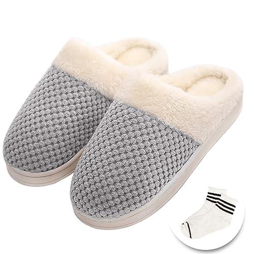 Zapatillas Calientes, Tencoz Zapatillas de Invierno de la Mujer Calor cómodos Zapatillas de Peluche de