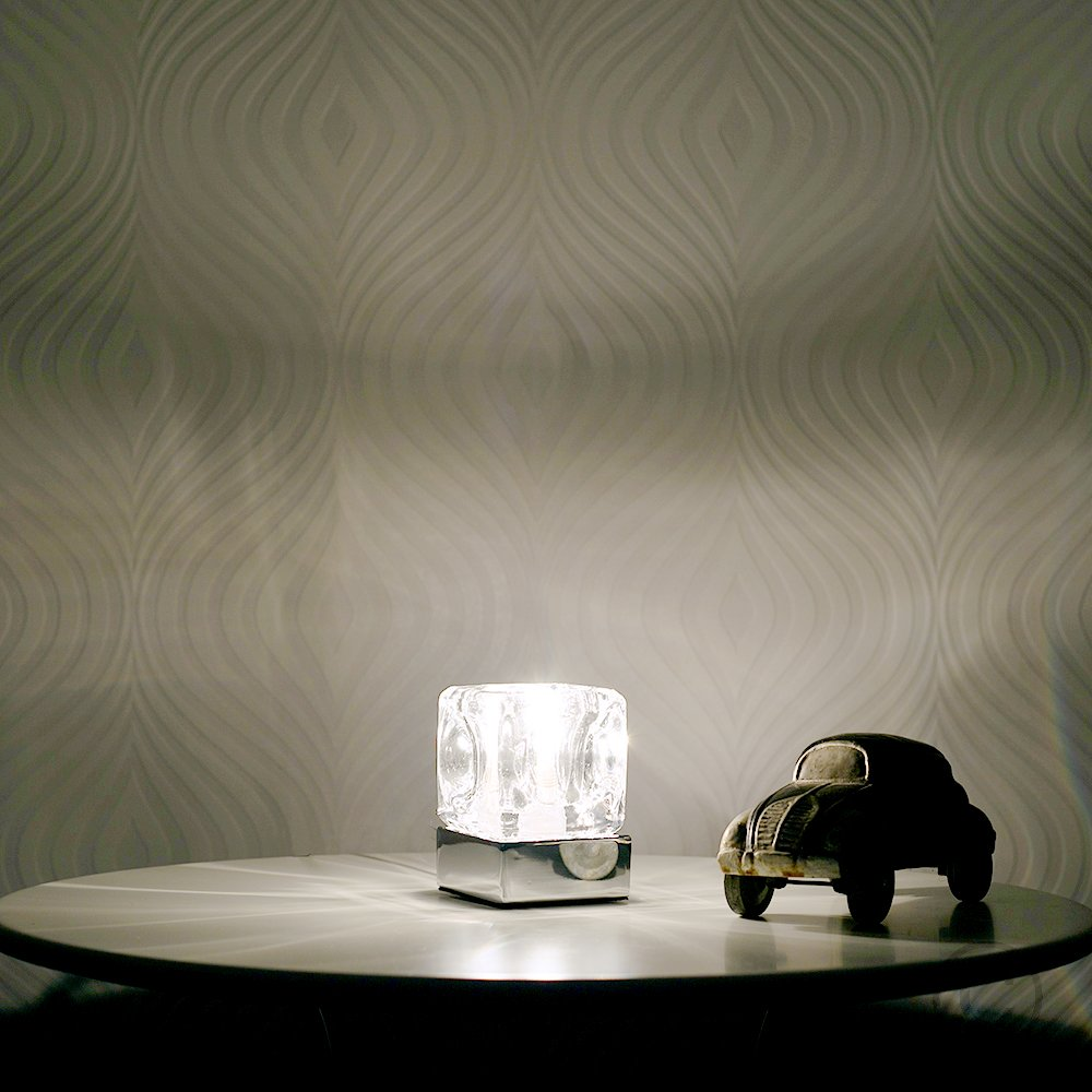 Modern glass ice cube touch table lamp with chrome base amazon modern glass ice cube touch table lamp with chrome base amazon kitchen home mozeypictures Gallery
