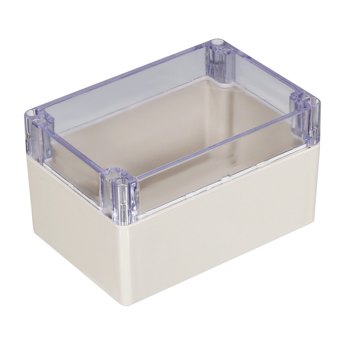 sourcing map 160 110 90mm Elektro ABS Plastik DIY Junktion Box geschlossen Deckel klar