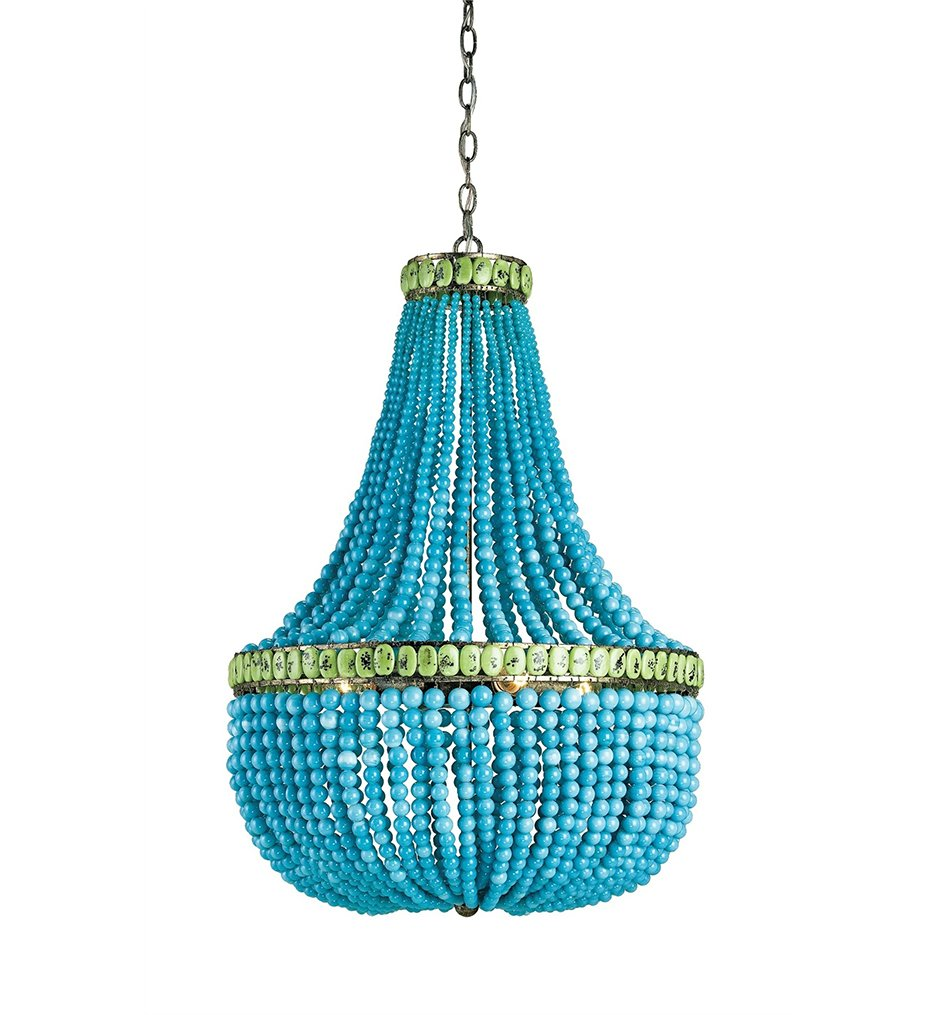 Currey and Company 9770 Hedy - Four Light Chandelier, Pyrite Bronze ...