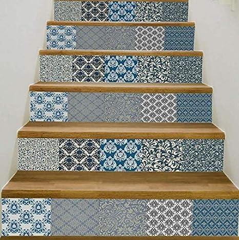 3D Creativo Escaleras Puerta Puerta Autoadhesiva Murales Etiqueta de la Habitación de la Pared Mosaico de Azulejos Pegatinas de Pared Autoadhesivo Impermeable Pvc Pegatinas de Pared Cocina Cerámica P: Amazon.es: Deportes y