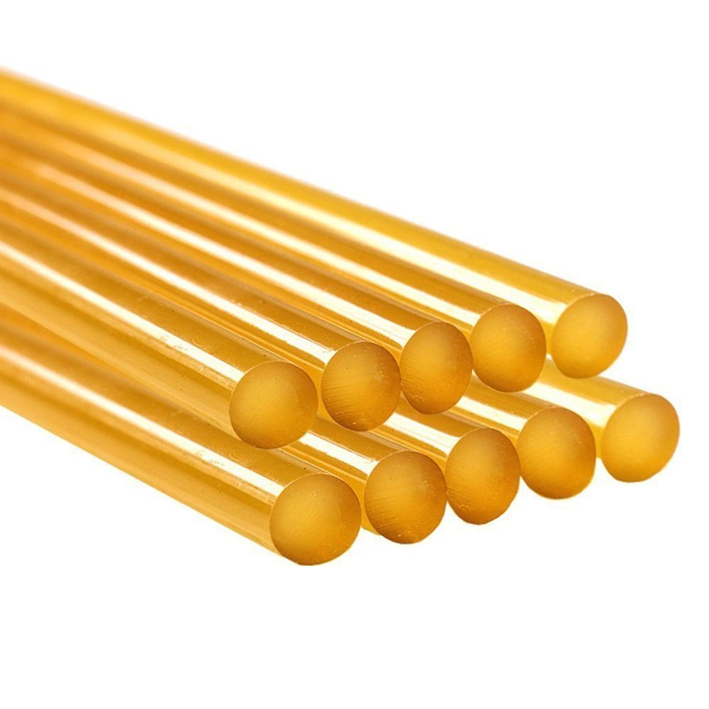 Heirloom Quality Super Strong Hot Melt Yellow Glue Sticks (Like In Picture, 10 Inch) Industrial Strength For Heavy Duty Gumming (Pack Of 20) For All 11Mm Hot Melt Glue Guns Standard 20pcs