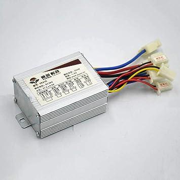 24V/36V48V 250/350/500W DC - Controlador de Motor eléctrico para ...