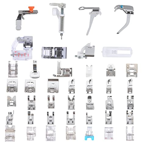 Kit profesional de 42 piezas de pies prensores para máquinas de coser domésticas. Para máquinas