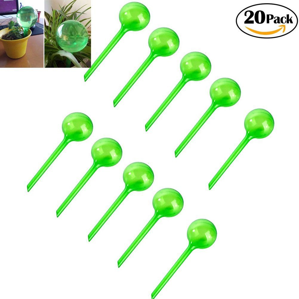 CoscosX 20 Pcs Large Automatic Watering Device Globes Vacation Houseplant Plant Pot Bulbs Garden Waterer Flower Water Drip Irrigationdevice Self Watering System by CoscosX
