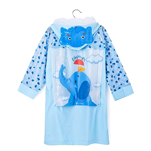 63437fbdb1de Amazon.com  LANSHULAN Kids Cartoon Thicken Raincoat Rain Poncho for ...