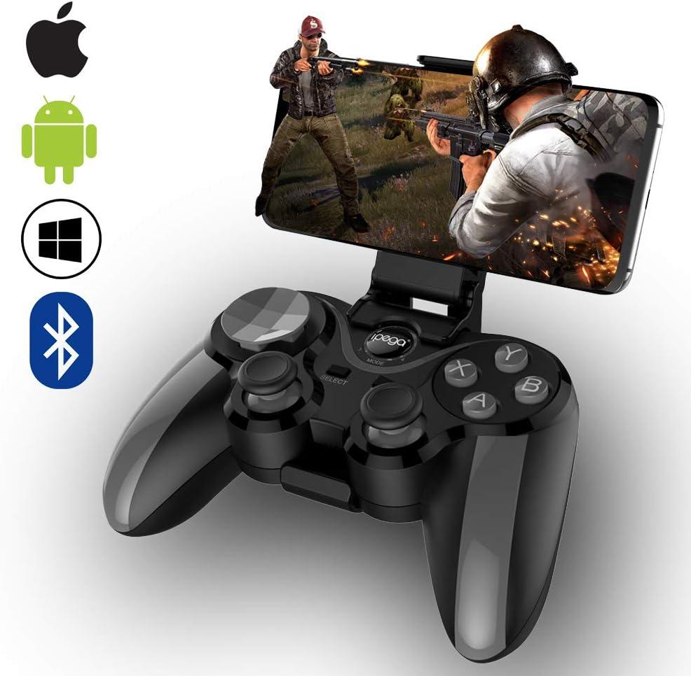 ZUOXI - Mando de Juego inalámbrico con Bluetooth 4.0 con Joystick, Controlador de Juego Multimedia Compatible con iOS Android teléfono móvil PC Android TV Box sin Ruta (Gris): Amazon.es: Electrónica