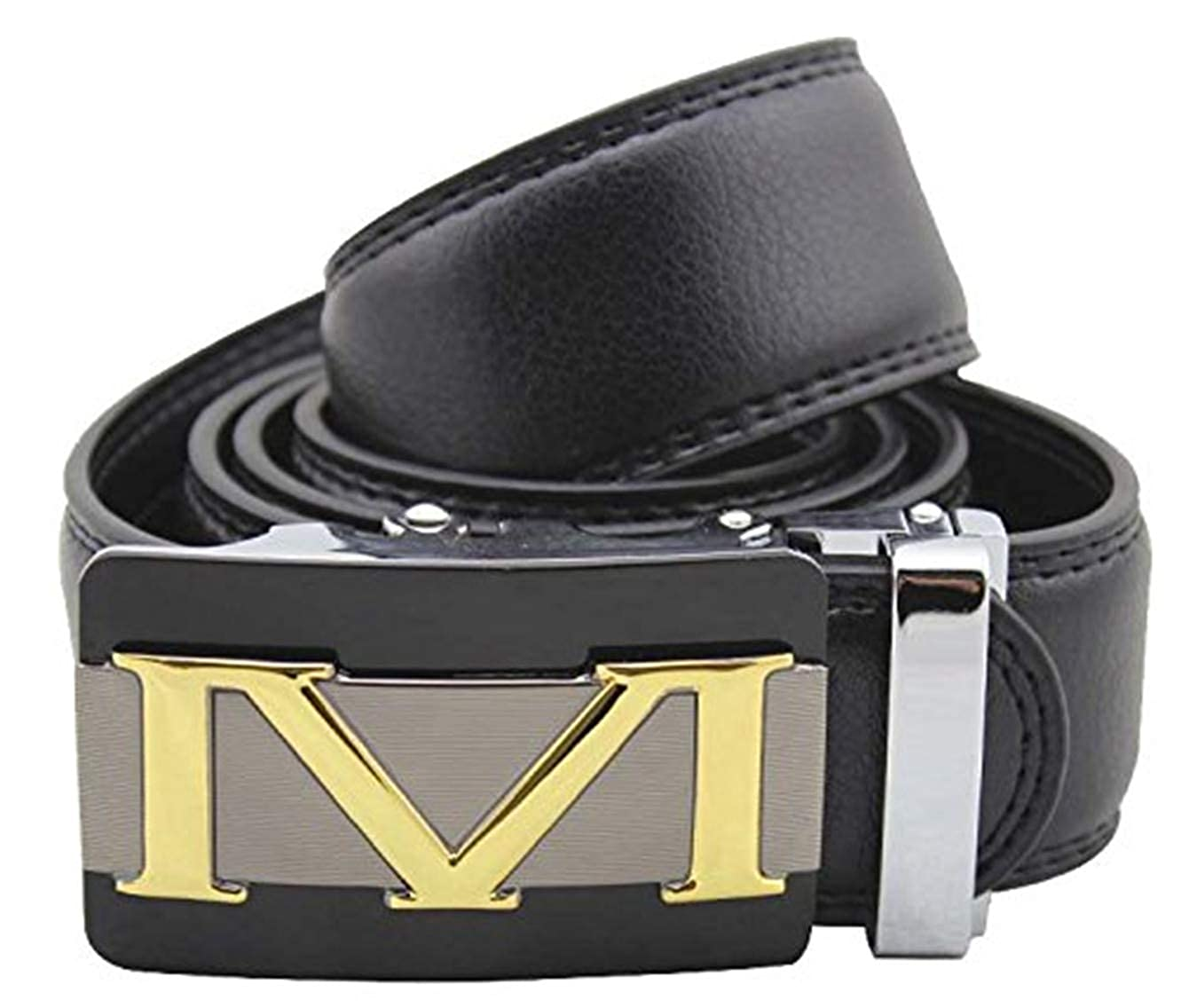 Mens Trendy Gold H M Automatic Buckle designer Belts