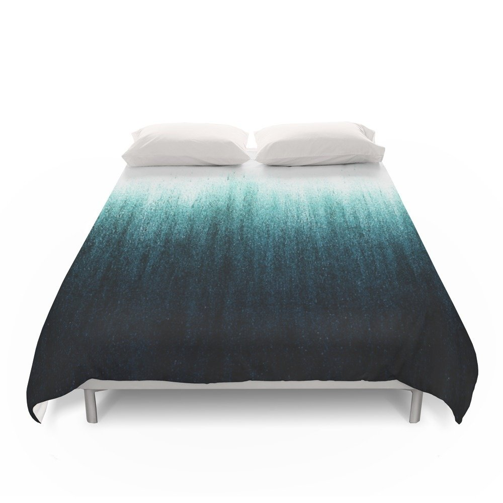 Society6 Teal Ombré Duvet Covers Queen: 88'' x 88''