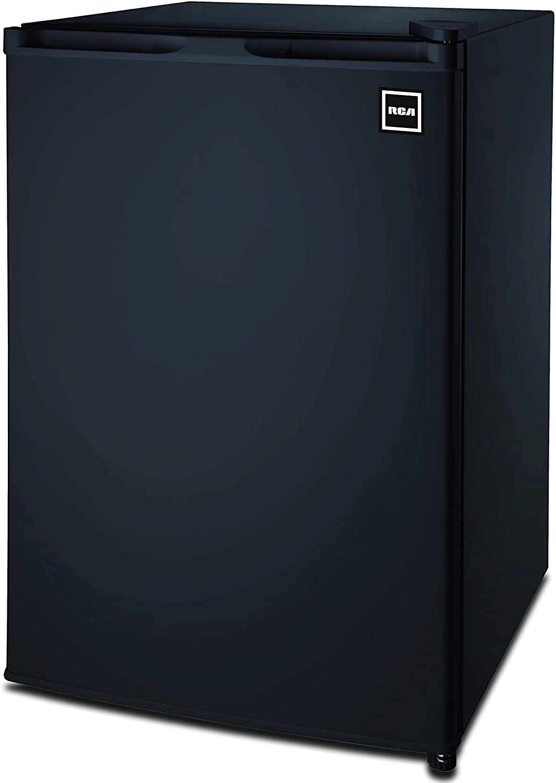RCA RFR464BLACK 4.5 Cu Ft Single Door Mini Fridge RFR464, Black