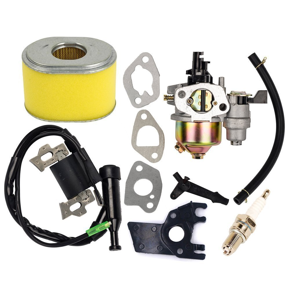 OuyFilters Replace Carburetor with Ignition Coil and Air Filter for Honda Gx160 Gx200 5.5HP 6HP Engine Generator Lawn Mower Motor