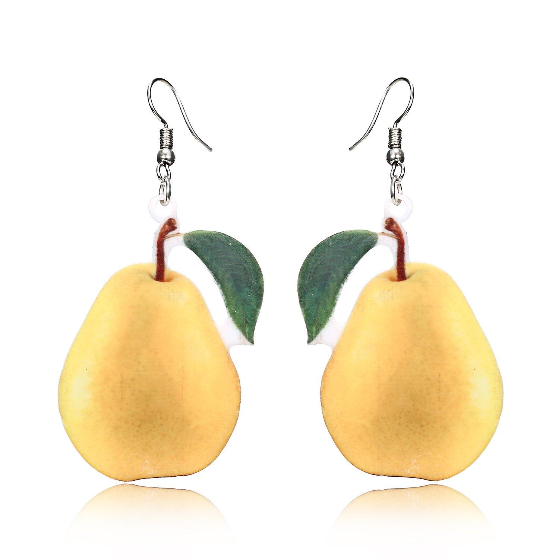 Trendy Statement Creative Funny Lifelike Fruits Acrylic Earrings for Women/Girl's VEINTI+1