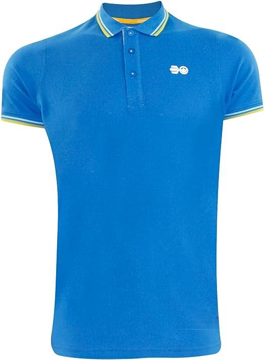 Crosshatch Mens DOWNTALK PK Polo T-Shirt Directoire Blue S: Amazon ...