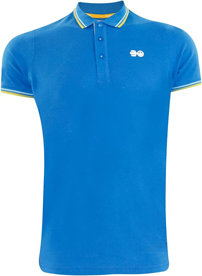 Crosshatch Mens DOWNTALK PK Polo T-Shirt Directoire Blue S: Amazon ...