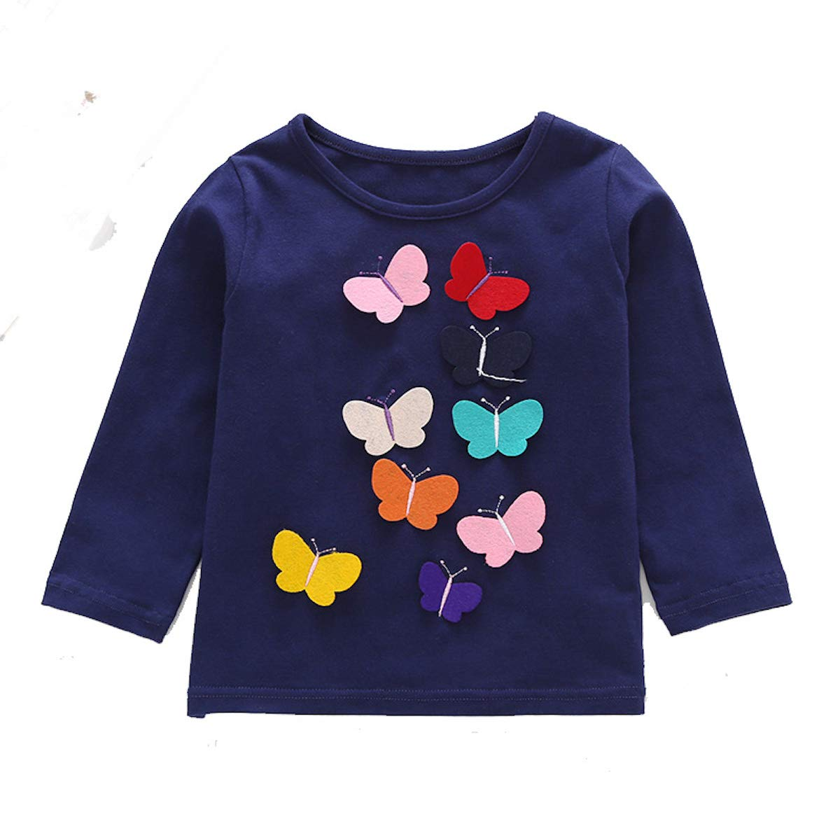 Freefly Kids Baby Girls Long Sleeve Sweater Floral Warm Pullover Tops T-Shirt Blouse for 1-6 Years