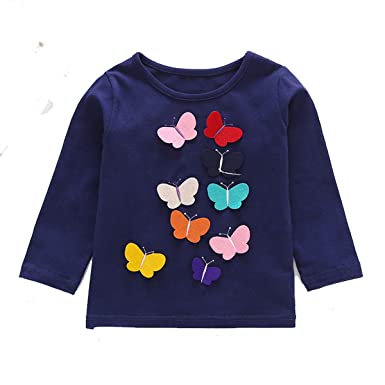 7bedf1a7ebc9 Freefly Kids Baby Girls Long Sleeve Sweater Floral Warm Pullover ...