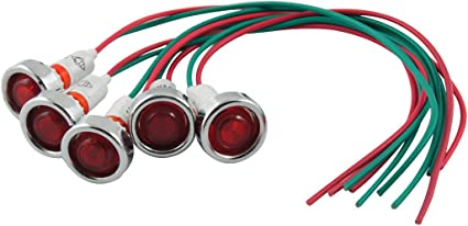 Red or Green 220-250V Mains Power Neon Panel Indicator With Wires