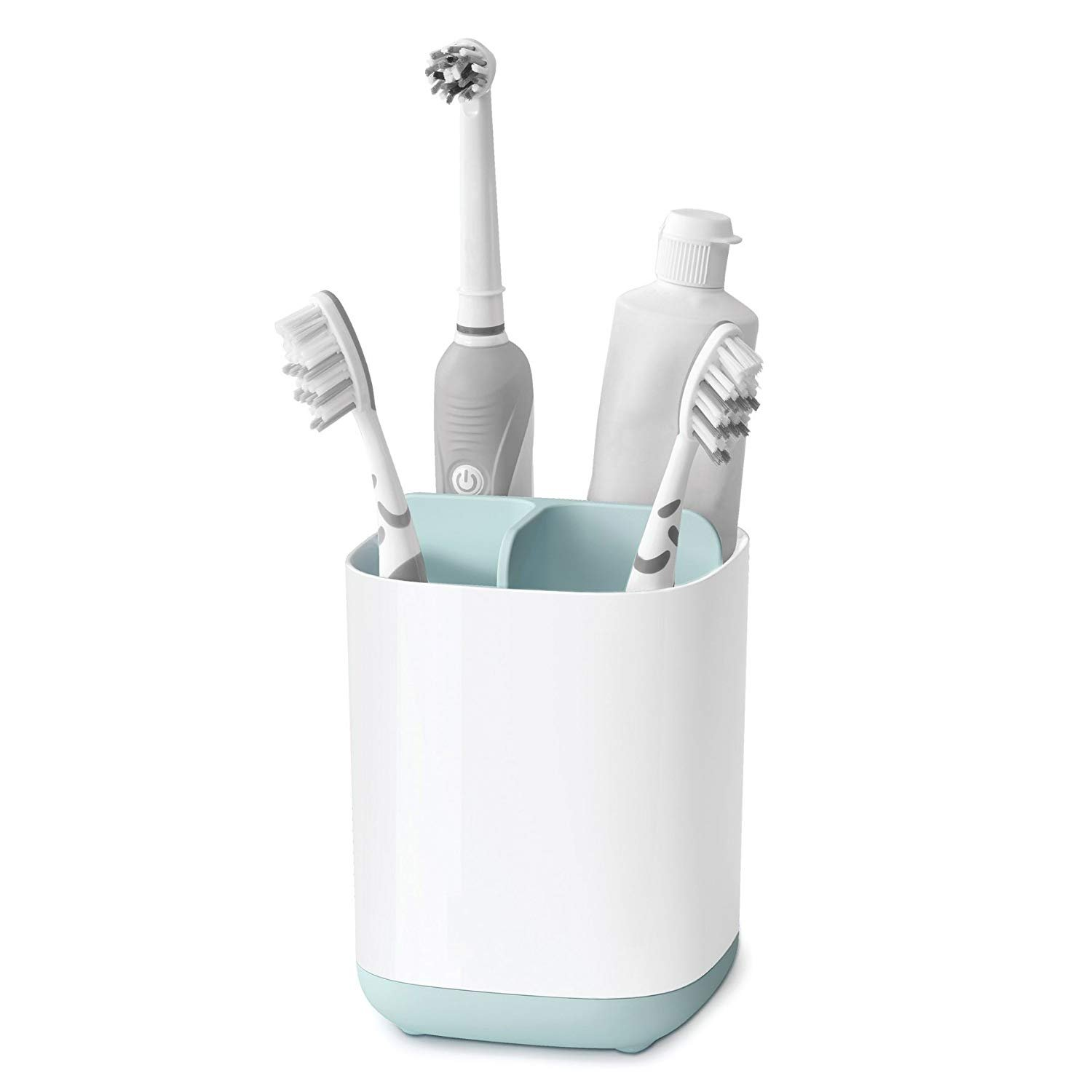YKHENGTU Bathroom Easy-Store Toothbrush Caddy, Detachable Toothpaste Holder Bathroom Organizer Toothbrush Toothpaste Storage Rack Easy to Wash and Natural Drying (Small)