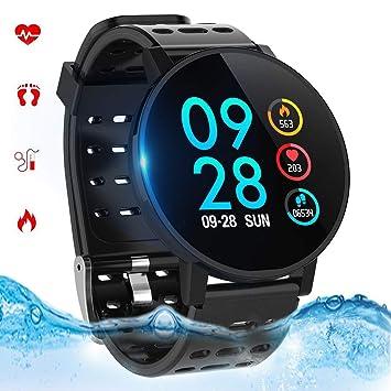 Montre Connectée, Bracelet Connecté Bluetooth Smartwatch Fitness Tracker dActivité Étanche IP67 Podomètre,