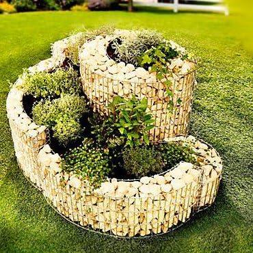 Brast – Gavión-espiral de plantas aromáticas, 110 x 90 cm, 4 mm ...