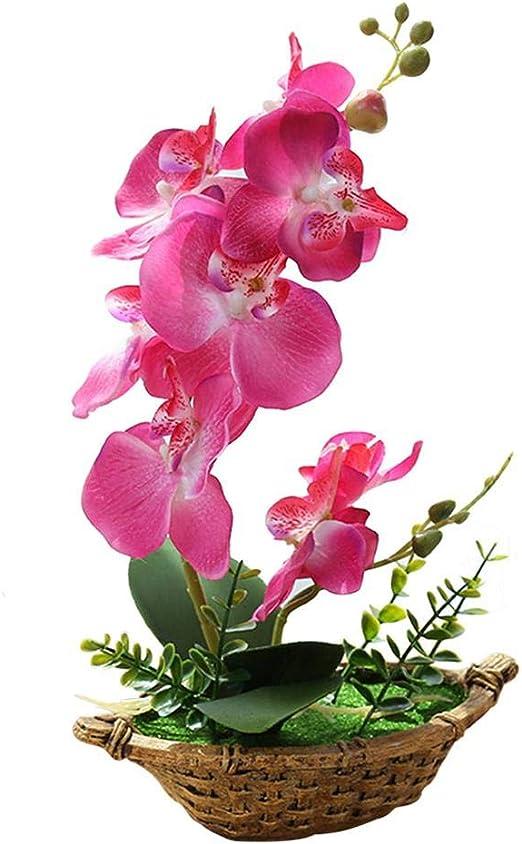 Orchidee Phalaenopsis im Topf  Kunstblume Seidenblumen künstliche Pflanze Deko