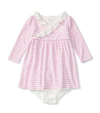 1c9b0a00c Amazon.com  Ralph Lauren Baby Girls  Striped Dress   bloomer Set ...