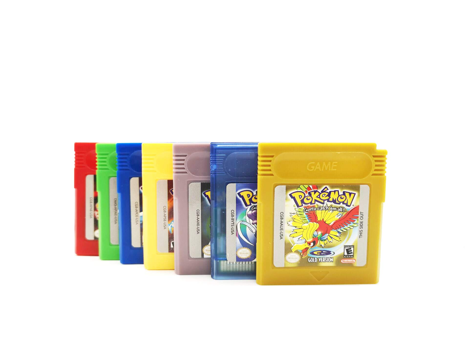 Nintendo GB GBC Game Pokemon 7 Colour POKEMON for Nintendo Game Boy Color GBA GBC w/ Case (7pcs)