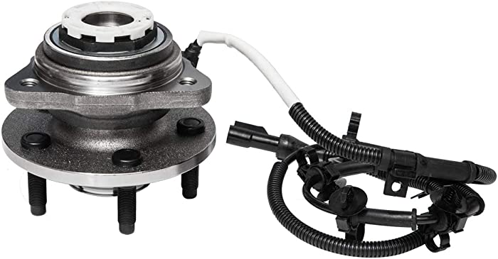 Front Wheel Hub and Bearing Assembly Compatible With 1998 99 2000 Ford Ranger Mazda B4000 (4WD Models,4-Wheel ABS)(w/Pulse Vacuum Hub Locks;1st Design) AUQDD 515027 [5 Lug W/ABS]