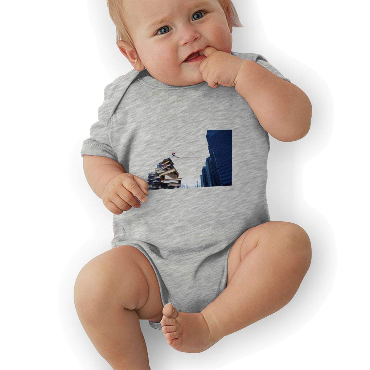 Infant Baby Girls Bodysuit Short-Sleeve Onesie from Book to The Social Print Rompers Autumn Pajamas