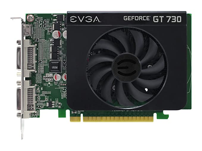 EVGA GeForce GT 730 1GB DDR3 128bit Dual DVI mHDMI Graphics Card 01G-P3-2731-KR