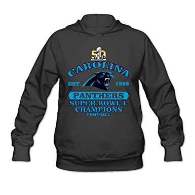 Rebecca Cool Carolina Panther Super Bowls Women s Long Sleeve Hoodie Black  at Amazon Women s Clothing store  5d349ff0e