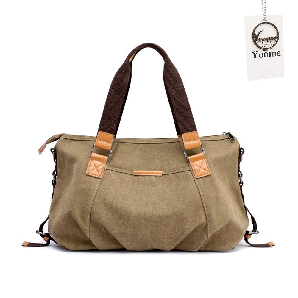 Yoome Women's Ladies Casual Hobo Shoulder Bags Canvas Large Daily Purse Tote Shopper Handbag