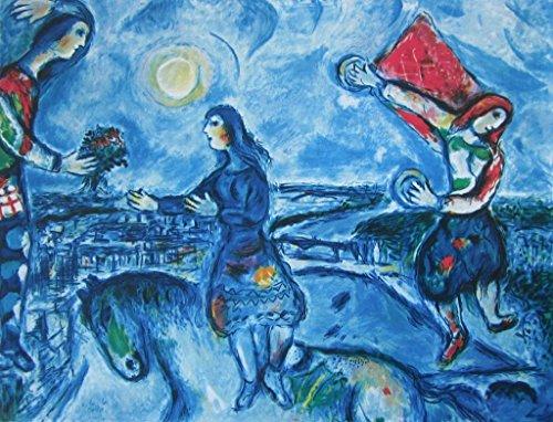Lovers Over Paris (Paris Fine Art Print)