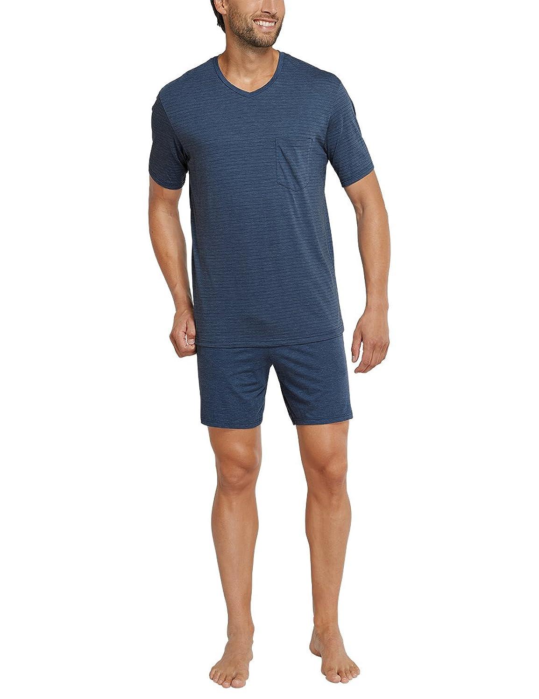 Schiesser Herren Zweiteiliger Schlafanzug Funktionswäsche Anzug Kurz