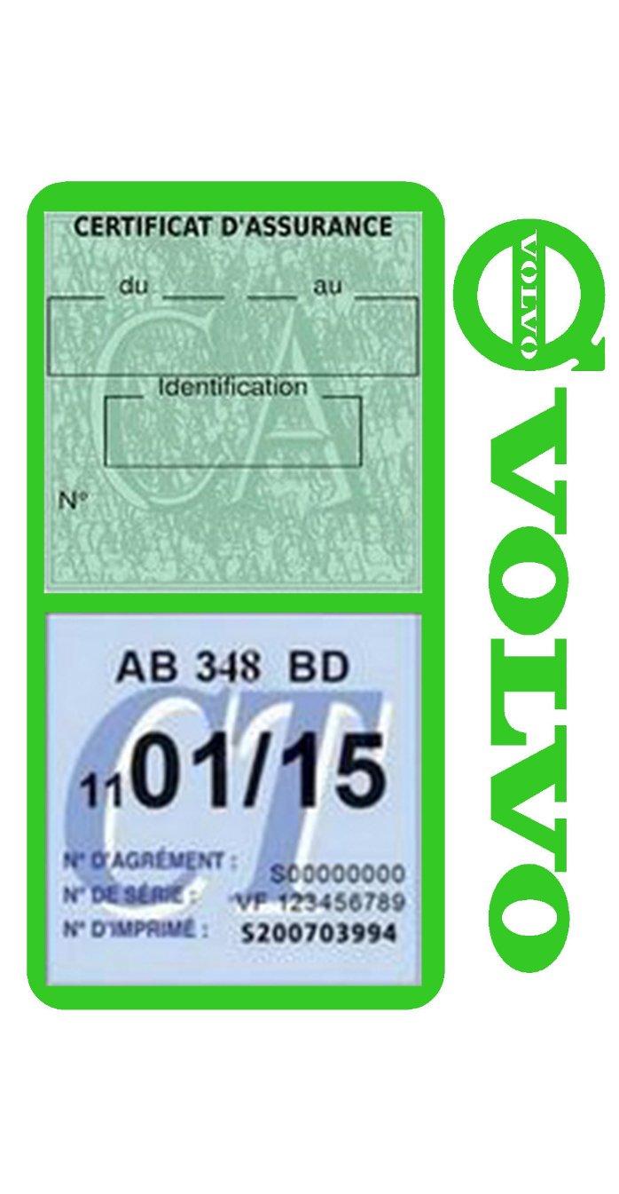 G/én/érique Etui Double Assurance Volvo Porte Vignette adh/ésif Voiture Stickers Auto r/étro Rose