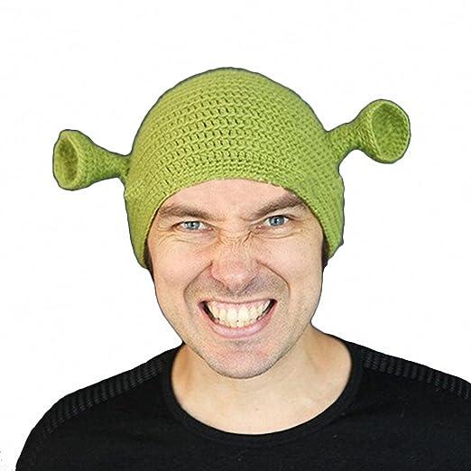 e8f90683c7d5e JcxHat Men s Green Funny Monster Ears Crochet Chunky Warm Winter ...